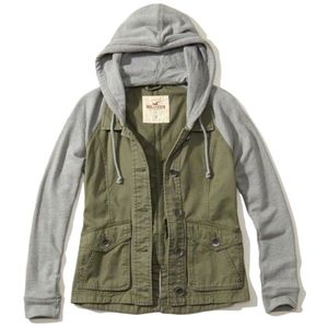 Hollister Twill Twofer Jacket Size S